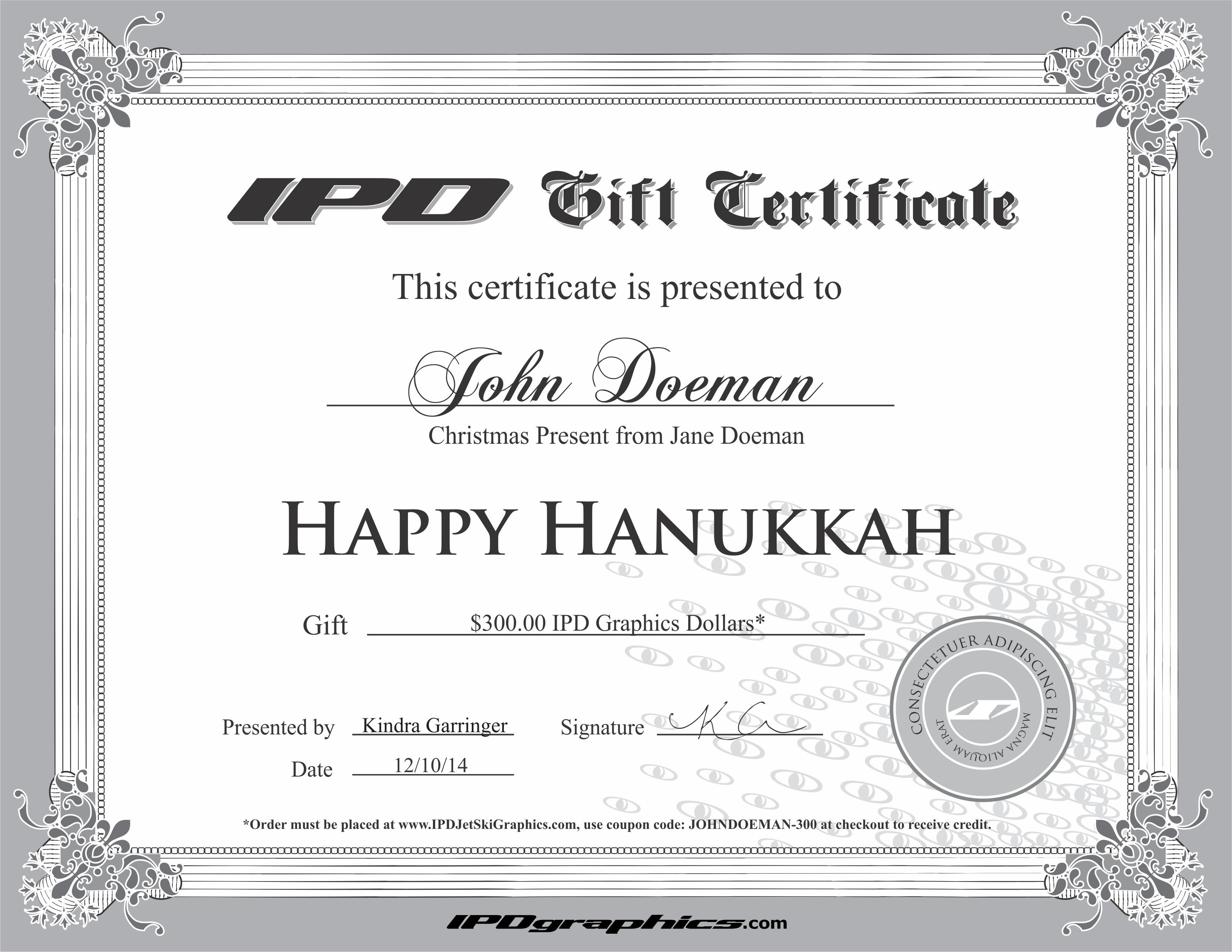 IPD Graphics Gift Certificate – IPD UTV Graphics